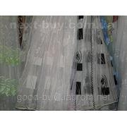 Тюль Квадратики - органза 00024-Л -1 фото