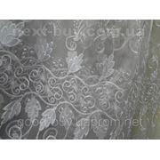 Тюль Вышивка с люрексовой нитью - органза 100232-ЛА -1 фото