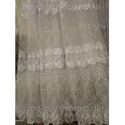 Тюль Roza Органза - с вышивкой из роз Турция 13045 -1 фото
