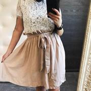 Женская летняя юбка из легкого штапеля с поясом , в 4 расцветках фото