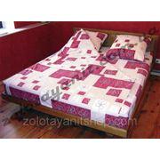 Абстракция красная на ткани поликоттон фото