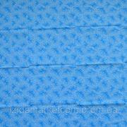 Ткань постельная Зима голубая фото
