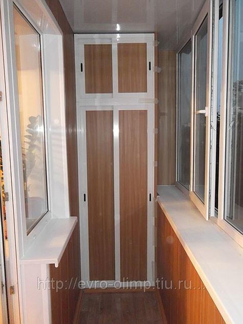 Отделка балкона мдф(бук) в Челябинске (устройство балконов, .