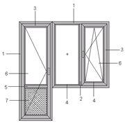 Балконный блок (окно + дверь) фото