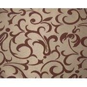 Ткань Мати ткацкий рисунок Отрада коричневая фото