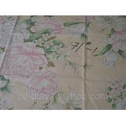 Ткань тик с розами фото