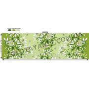 Ткань бязь с лилией зеленой