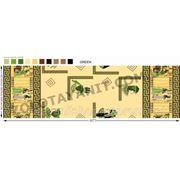 Ткань Версаче на зеленом фоне фото