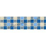 Ткань шотландка синяя для постельного белья фото