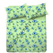 Ткань с лилией зеленой