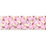 Ромашки с сердечками розовые на ткани для пошива постельного белья фото