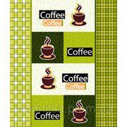 Полотно вафельное Кофе (полотенечное) зеленый (арт. 4985/3) фото