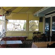 Прозрачный тент, мягкие окна и шторы из ПВХ материалов фото