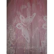 "Тюль ""Бабочка"" - органза с нарисоваными бабочками фото"
