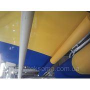 Тканина жовто-синя фото