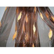Тюль - полуорганза - Листопад 00012 - Л фото