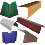 Элемент доборный для металлосайдинга RAL 9006 алюминиевый фото