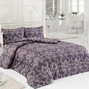 Комплект постельного белья Pera Серо-фиолетовый, сатин, 100% хлопок, евро фото