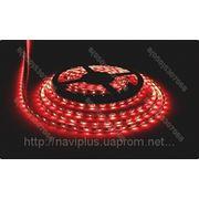 LED лента SMD 3528, герметичная, 60 шт/м, красная