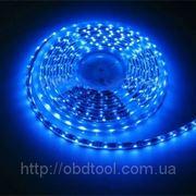 Светодиодная лента LED SMD 3528, 60шт/м, Синяя, водонепроницаемая, 1 метр фото