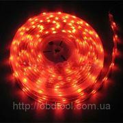 Светодиодная лента LED SMD 3528, 60шт/м, Красная, водонепроницаемая, 1 метр фото