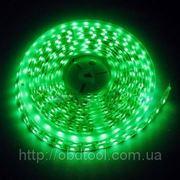Светодиодная лента LED SMD 3528, 60шт/м, Зеленая, водонепроницаемая, 1 метр фото