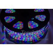 Светодиодная лента Led 3528 54шт/м IP67 RGB 220В фото