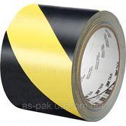 Лента сигнальная желто-черная 75*250