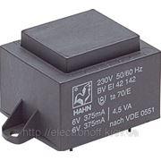 Трансформатор 28VA 230V, 2x12V 1167mA 54x64x60мм HAHN EI6021021 фото
