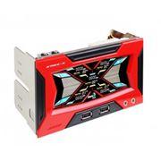 Контроллер скорости вентиляторов Aerocool Strike-X Black/Red (Сенсорный LCDдисплей/5*Fan/2*USB/микрофон/наушники/5 датчиков темперауры) фото