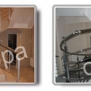 Изготовление и монтаж лестничных ограждений фото
