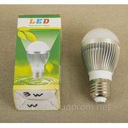 Светодиодная лампа 3Вт Е27 300-350Лм 220Вт фото