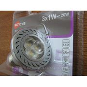 Энергосберегающая LED лампа SENCYS с алюм. радиатором 3x1W(Е27-4000К) фото