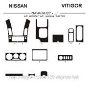 Nissan NAVARA 05'-... A/C, WITHOUT A/C, MANUAL SHIFTER Светлое дерево, темное дерево, темный орех, черный, синий, желтый, красный фото
