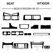 Seat IBIZA/CORDOBA 99' - 02' Светлое дерево, темное дерево, темный орех, черный, синий, желтый, красный фото