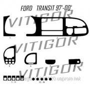 Ford TRANSIT 97' - 00' Светлое дерево, темное дерево, темный орех, черный, синий, желтый, красный фото