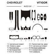 Chevrolet AVEO 04' - ... Светлое дерево, темное дерево, темный орех, черный, синий, желтый, красный фото