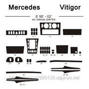 Mercedes E 95' - 02' A/C MANUAL SHIFTER Светлое дерево, темное дерево, темный орех, черный, синий, желтый, красный фото