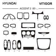 Hyundai ACCENT 00' - ... Светлое дерево, темное дерево, темный орех, черный, синий, желтый, красный фото