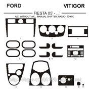 Ford FIESTA 05' - ... A/C, WITHOUT A/C, MANUAL SHIFTER, RADIO-5000C Светлое дерево, темное дерево, темный орех, черный, синий, желтый, красный фото