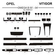 Opel OMEGA B 00' - 04' Светлое дерево, темное дерево, темный орех, черный, синий, желтый, красный фото
