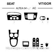 Seat ALTEA/TOLEDO 04' - ... A/C Светлое дерево, темное дерево, темный орех, черный, синий, желтый, красный фото