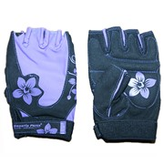 Перчатки для фитнеса женские фиолетово-черные р-р L фото