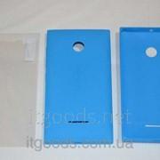 Крышка задняя синяя для Microsoft Lumia 532 + ПЛЕНКА В ПОДАРОК 4143-1 фото