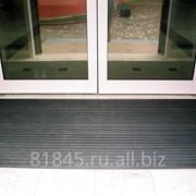 Решетка алюминиевая грязезащитная Гарант резина фото