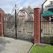 Распашные ворота 3 фото