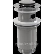 Водослив для умывальника click/clack 5/4 цельнометаллический с малой заглушкой A391 фото