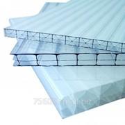 Сотовый поликарбонат прозрачный 6 мм фото