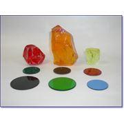 Оптическое цветное стекло фото