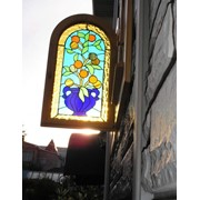 Витражи в технике Тиффани - уникальные картины из стекла преоразят белый свет в непередаваемую игру красок! фото